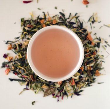 zoete thee drinken